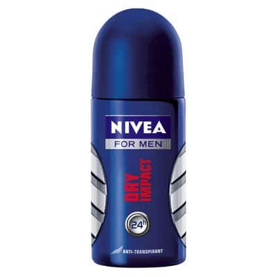 NIVEA DESODORANTE NIVEA FOR MEN ROLL ON DRY IMPACT todo tipo de pieles